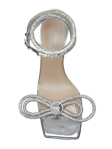 Crystal Bow-Embellished Sandals Top