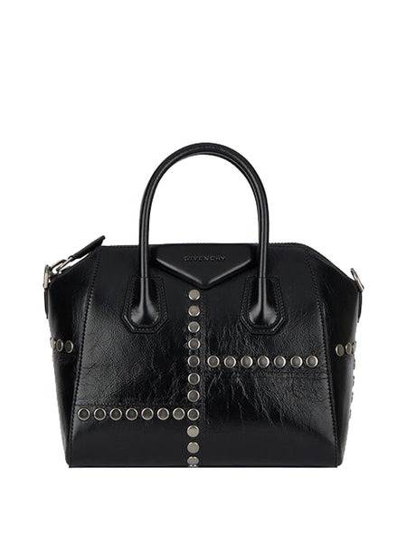 Small Antigona Bag in Vintage Leather with Studs