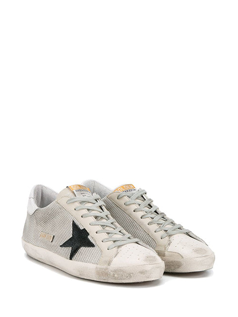 Grey Cord Superstar Sneakers Pair