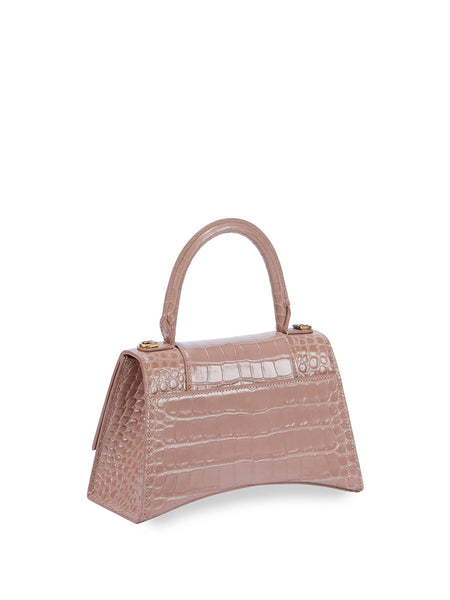 Hour Small Croc-Embossed Top-Handle Bag Back