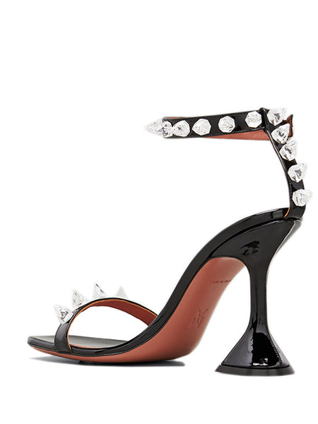 Julia 95mm Patent Spike Sandals Back