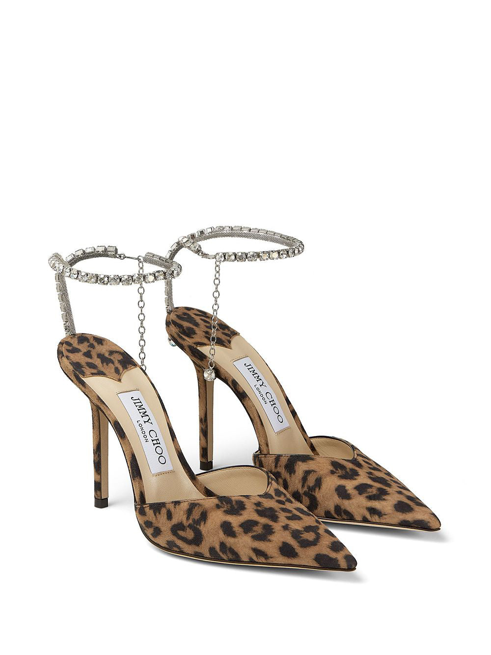 Saeda 100mm Leopard Print Pumps