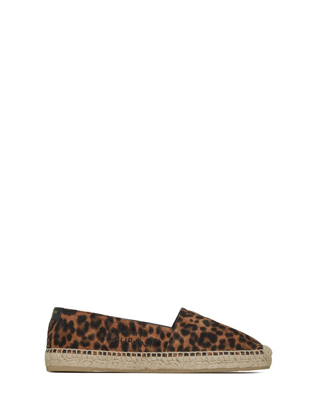 Embroidered Espadrilles in Leopard-Print
