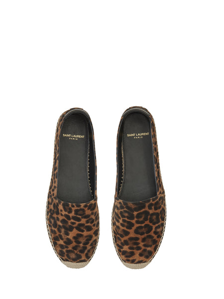 Embroidered Espadrilles in Leopard-Print (Top)