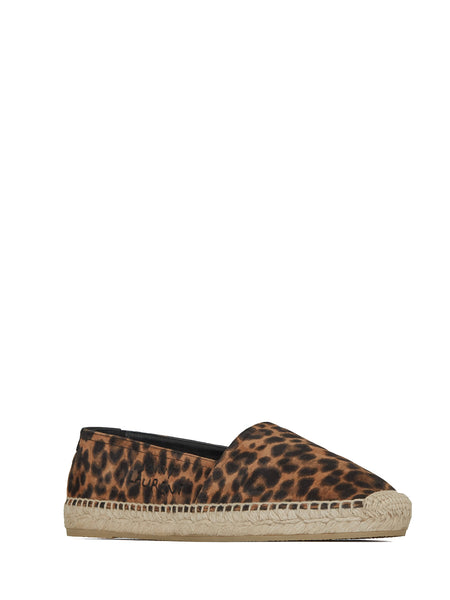 Embroidered Espadrilles in Leopard-Print (Right)