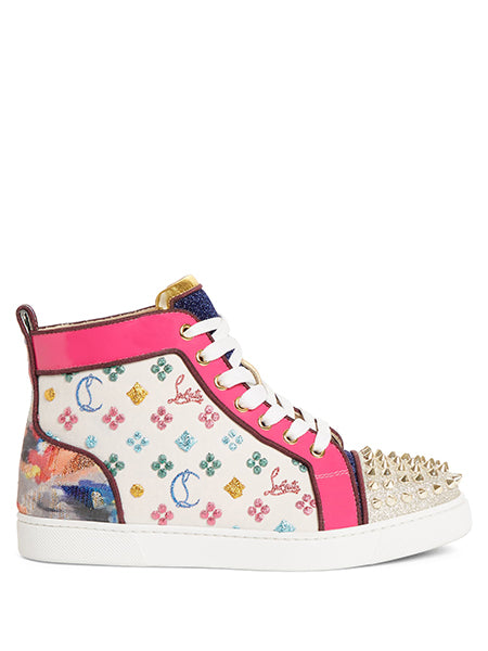 Lou Spike Logo High Top Sneaker