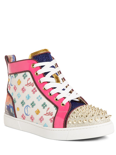 Lou Spike Logo High Top Sneaker Right