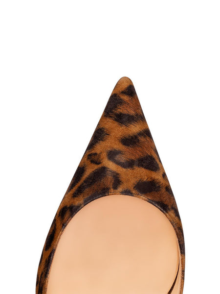 Clare Sling 80mm - Leopard Toe