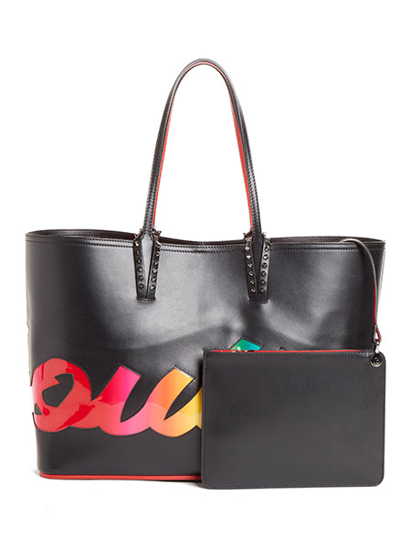 Cabata Logo Patent Leather Tote with Pouch