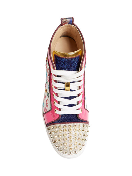Lou Spike Logo High Top Sneaker Top