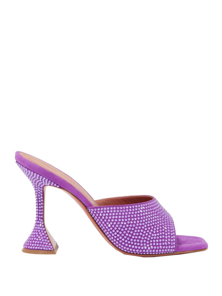Lupita Crystal Slippers in Suede