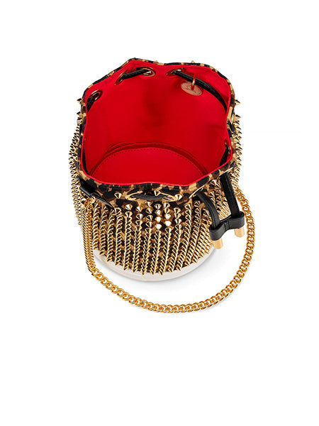 Marie Jane Bucket Bag Gold Inside