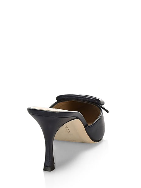 Maysale Buckle Leather Mules (Back)