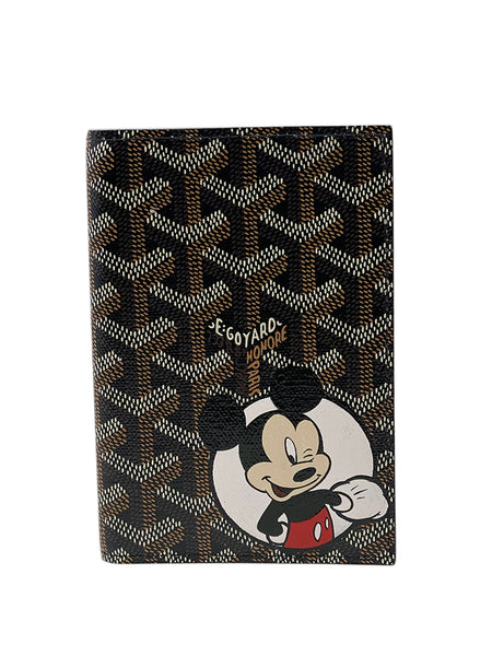 Custom Mickey Mouse Goyard Passport Holder