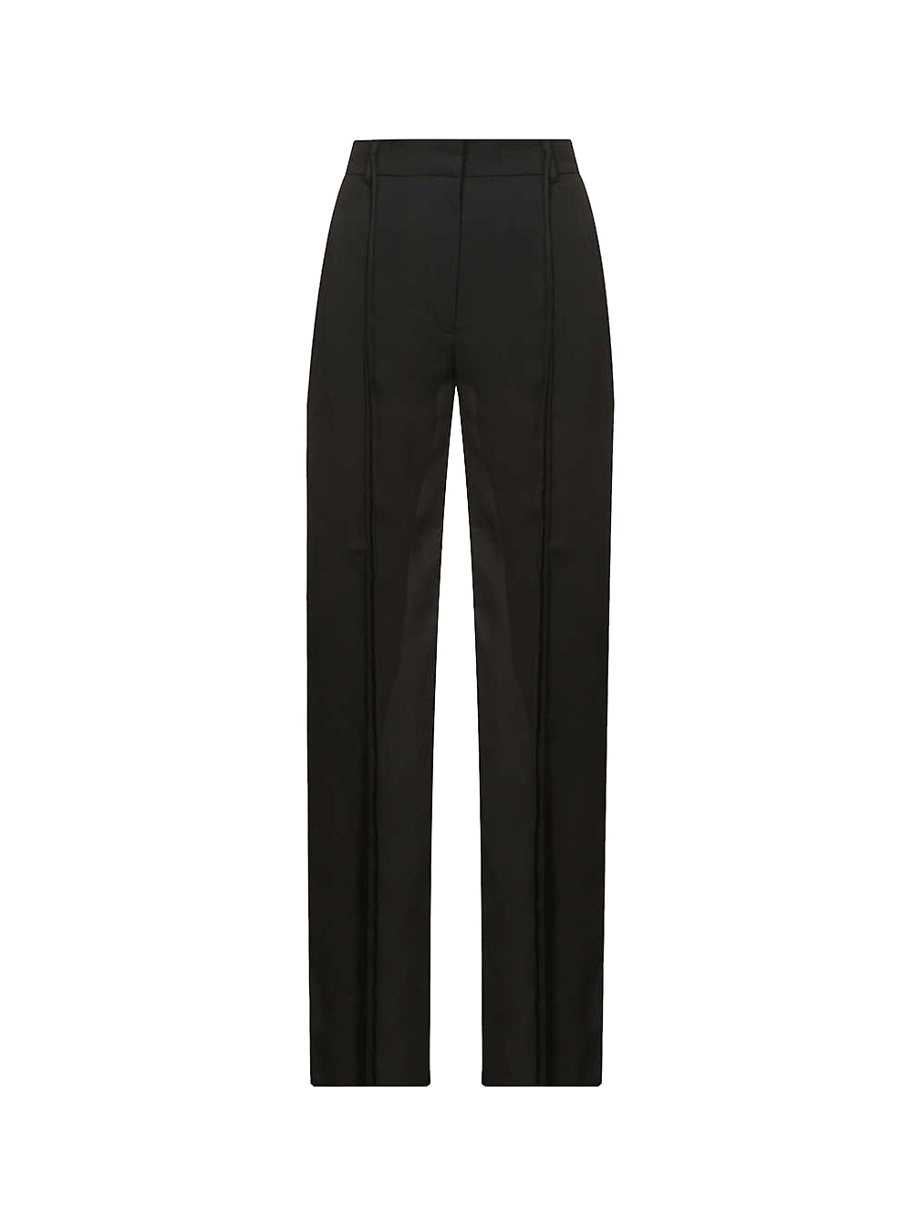 Relaxed-Fit High-Rise Crepe Trousers