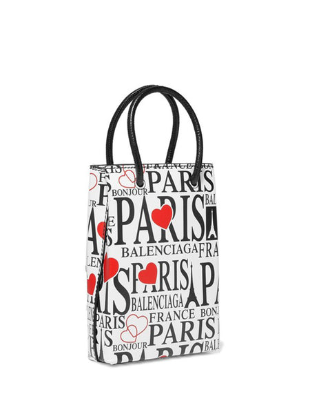 iPhone Cover Paris Bonjour with Strap - side view