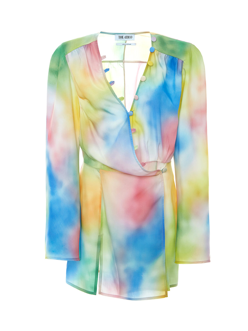 Tie-Dye Crepe De Chine Mini Dress