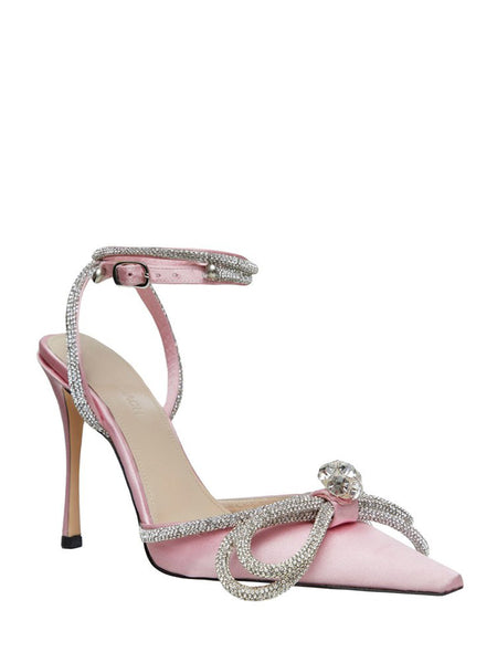 Crystal Satin Pumps Pink 3/4