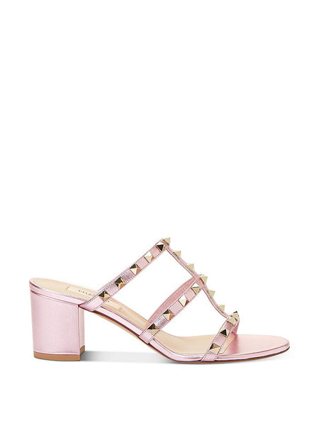 Women's Rockstud Block Heel Slide Sandals