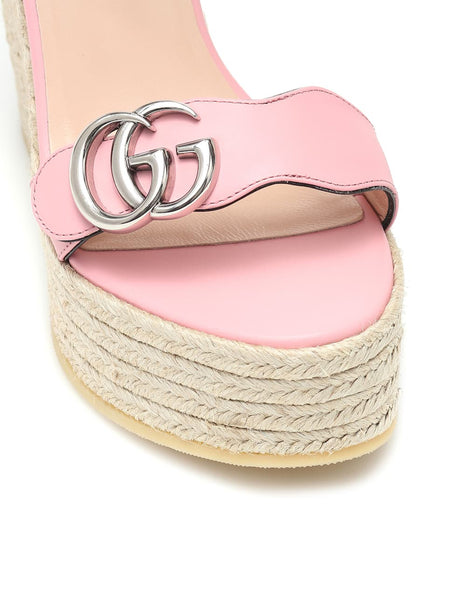 Leather Espadrille Wedges