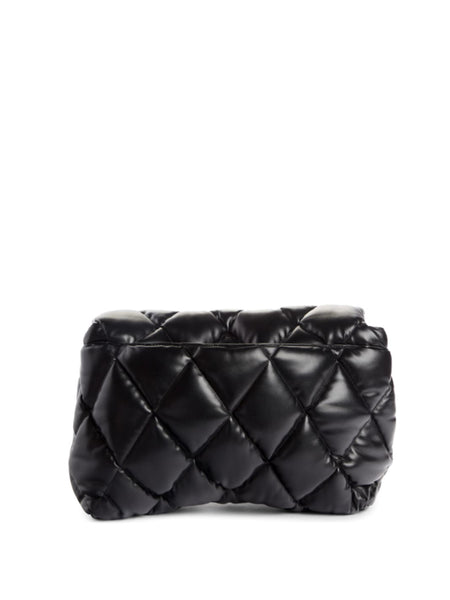 Large Touch Diamond Quilted Leather Clutch
