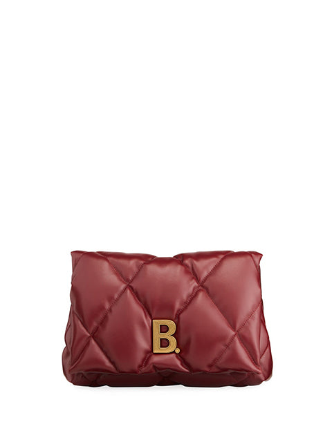 Touch Puffy Medium Quilted Clutch Bag
