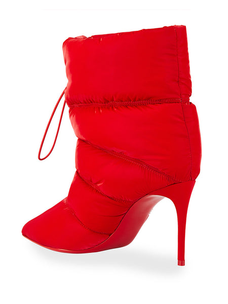 Astro Puffer Red Sole Stiletto Booties