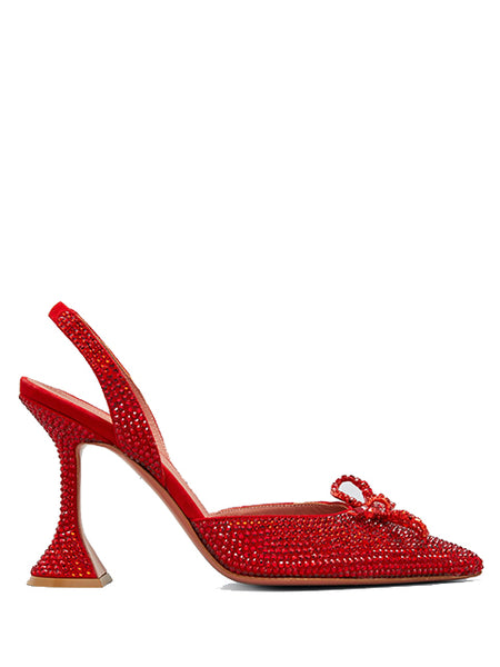 Rosie Embellished Slingback Bow Pumps