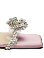 Rosie Crystal Satin Sandals