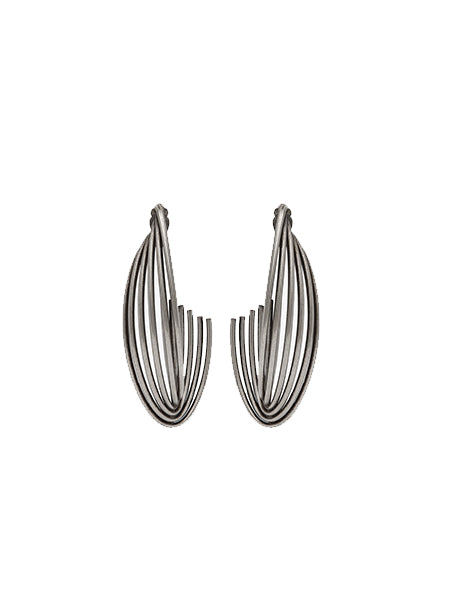 Tribal Twisted Hoop Earrings in Metal