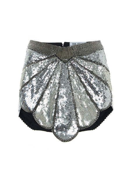 Shell Sequin-Embellished Mini Skirt