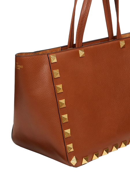 Roman Stud Leather Tote
