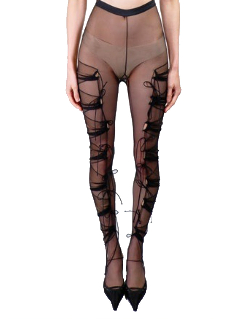 Pleated Panel Tights