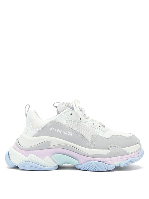Triple S Leather & Mesh Trainers