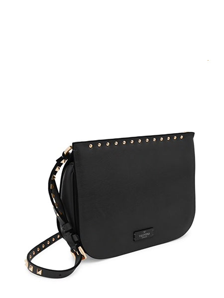 Valentino Garavani Rockstud Leather Saddle Bag - side view