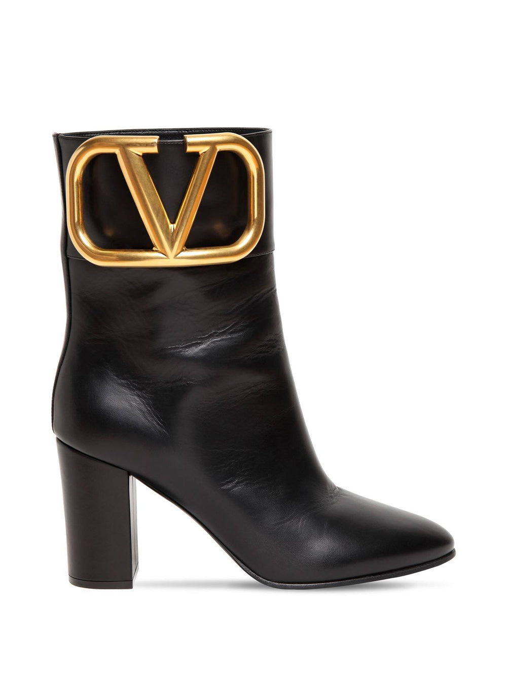 Valentino Garavani Leather Ankle Boots With VLogo