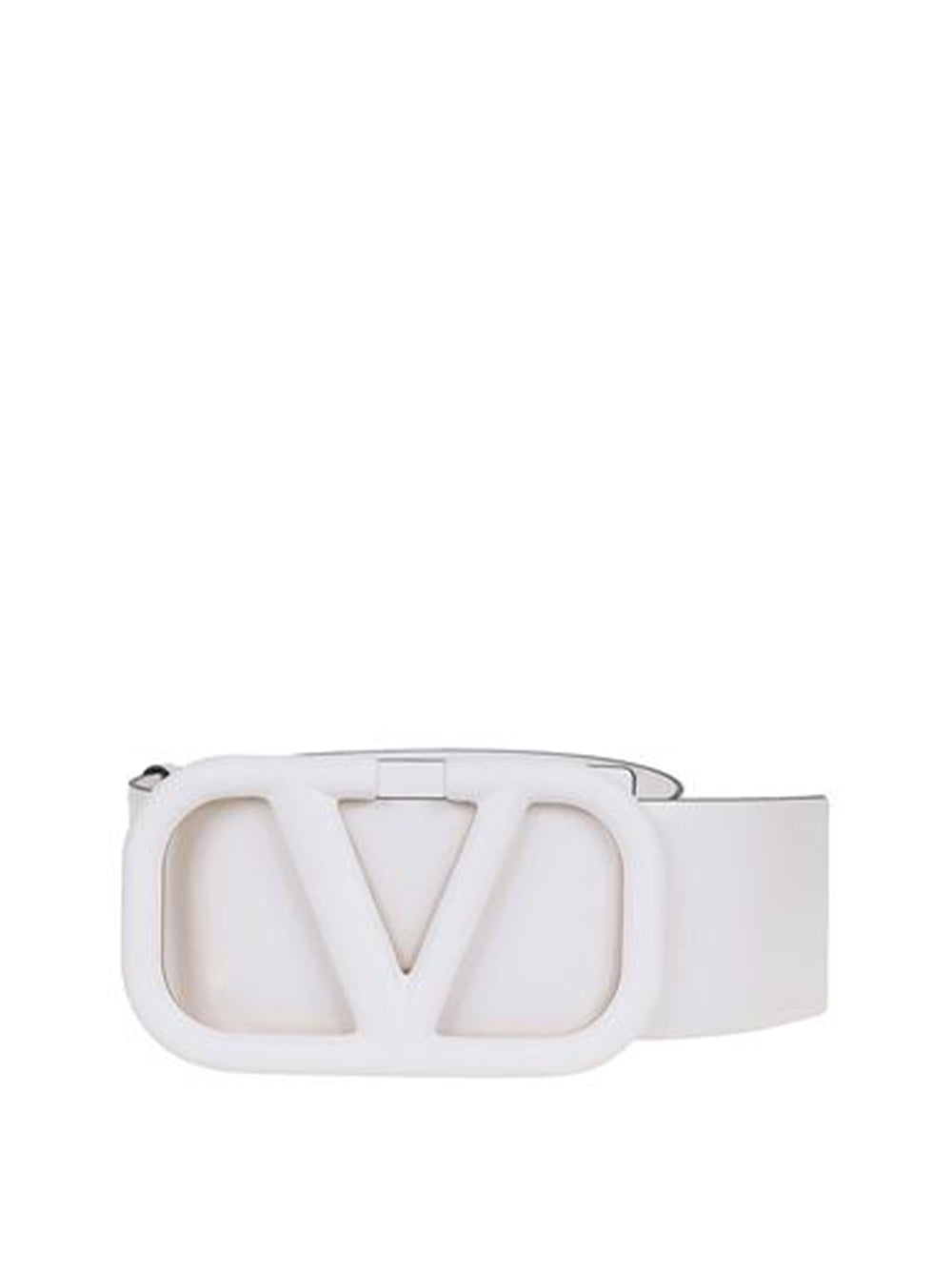 VLogo Leather Belt Buckle