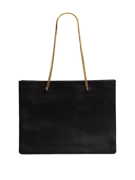 Shopping Chic Leather Tote Back
