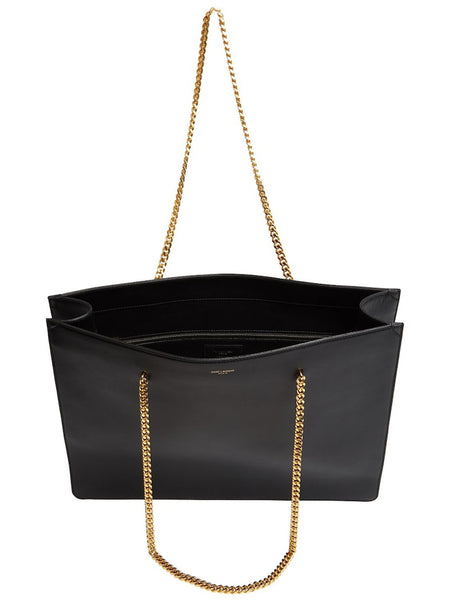 Shopping Chic Leather Tote Open