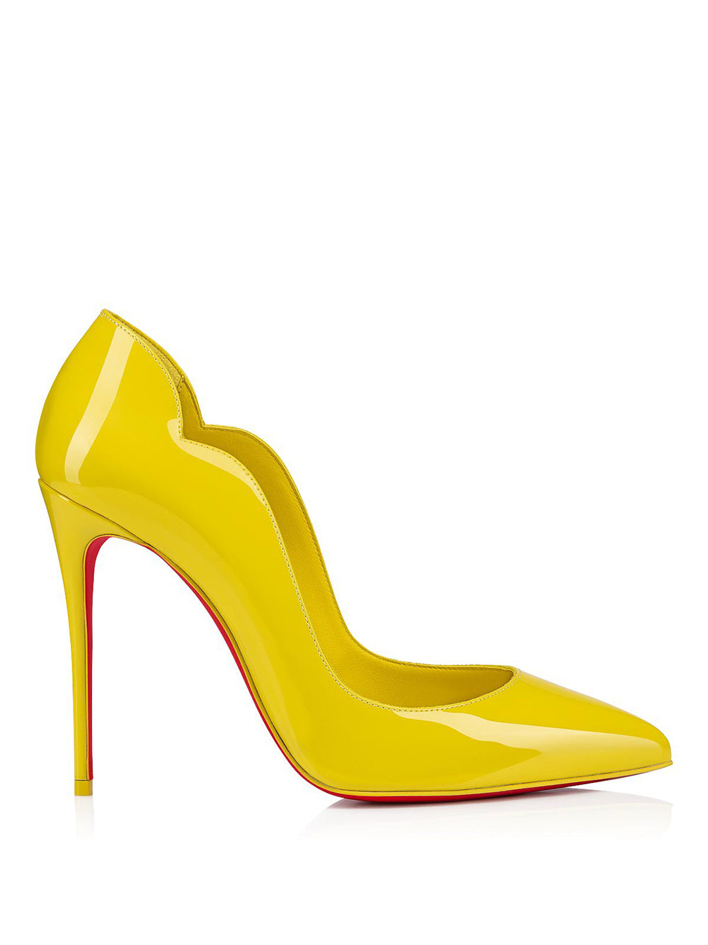 Hot Chick 100 Yellow Patent Leather