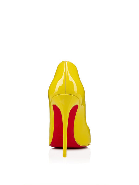 Hot Chick 100 Yellow Patent Leather Back