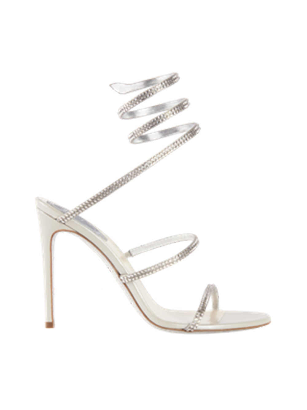 High-Heeled Grey Sandals Cleo