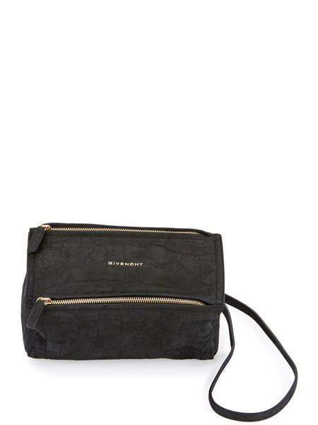 Pandora Mini Mock-Croc Nubuck Satchel Bag
