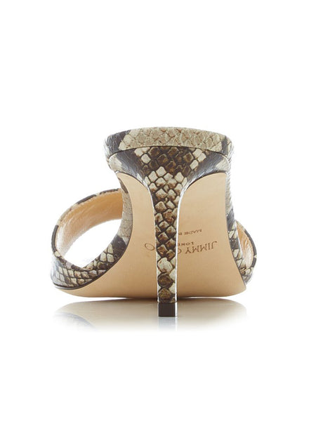 Stacey 65 Snake-Effect Sandals