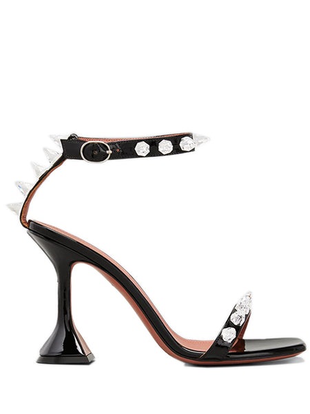 Julia 95mm Patent Spike Sandals