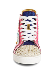 Lou Spike Logo High Top Sneaker Front