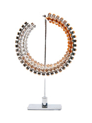 Stacked Ombre Orange Crystal Hoop 4""