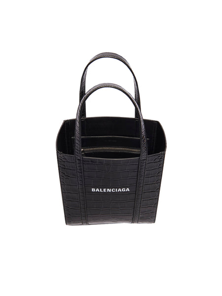Extra Extra Small Everyday Croc Embossed Calfskin Tote