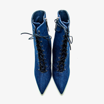 Botín denim Manolo Blahnik