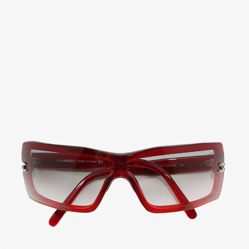 Gafas rectangulares rojas Chanel